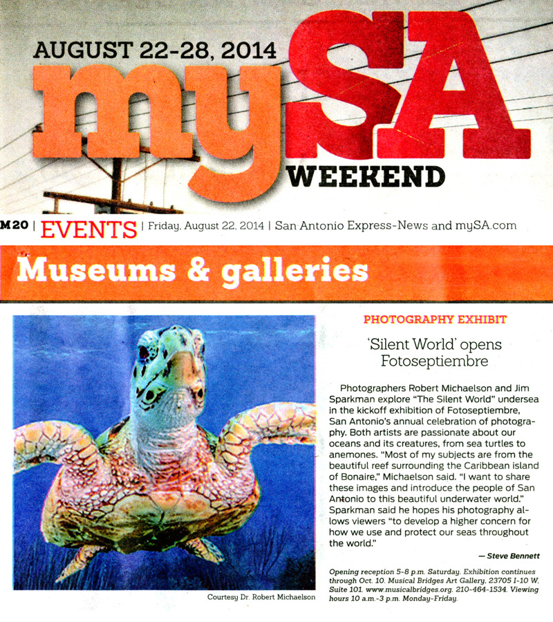 2014-FOTOSEPTIEMBRE-USA_The-Silent-World-Exhibit_Musical-Bridges-Art-Gallery_San-Antonio-Express-News