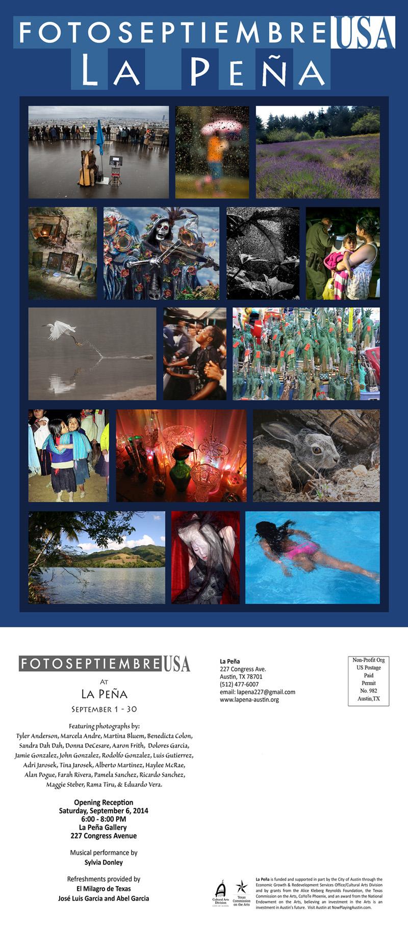 2014-FOTOSEPTIEMBRE-USA_La-Peña-Austin_Promo-Card