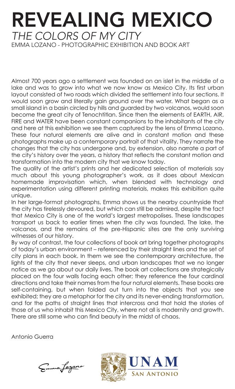 2014-FOTOSEPTIEMBRE-USA_UNAM_Emma-Lozano_Curator's-Statement
