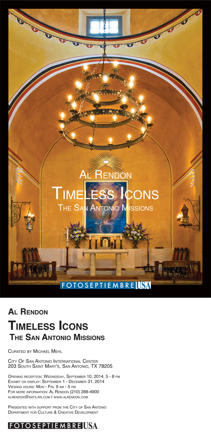2104-FOTOSEPTIEMBRE-USA_Al-Rendon_Timeless-Icons-Exhibit-Promo-Card