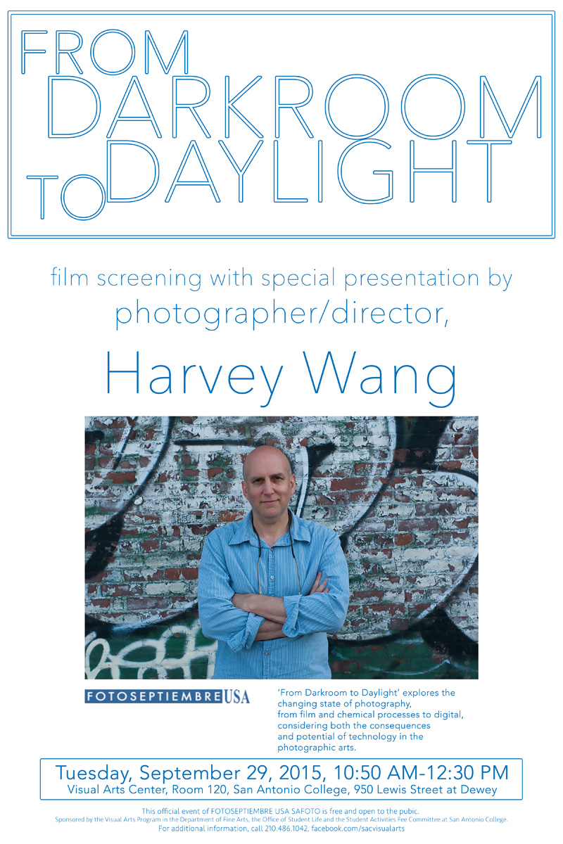 2015-FOTOSEPTIEMBRE-USA_Harvey-Wang_San-Antonio-College_Promo-Poster