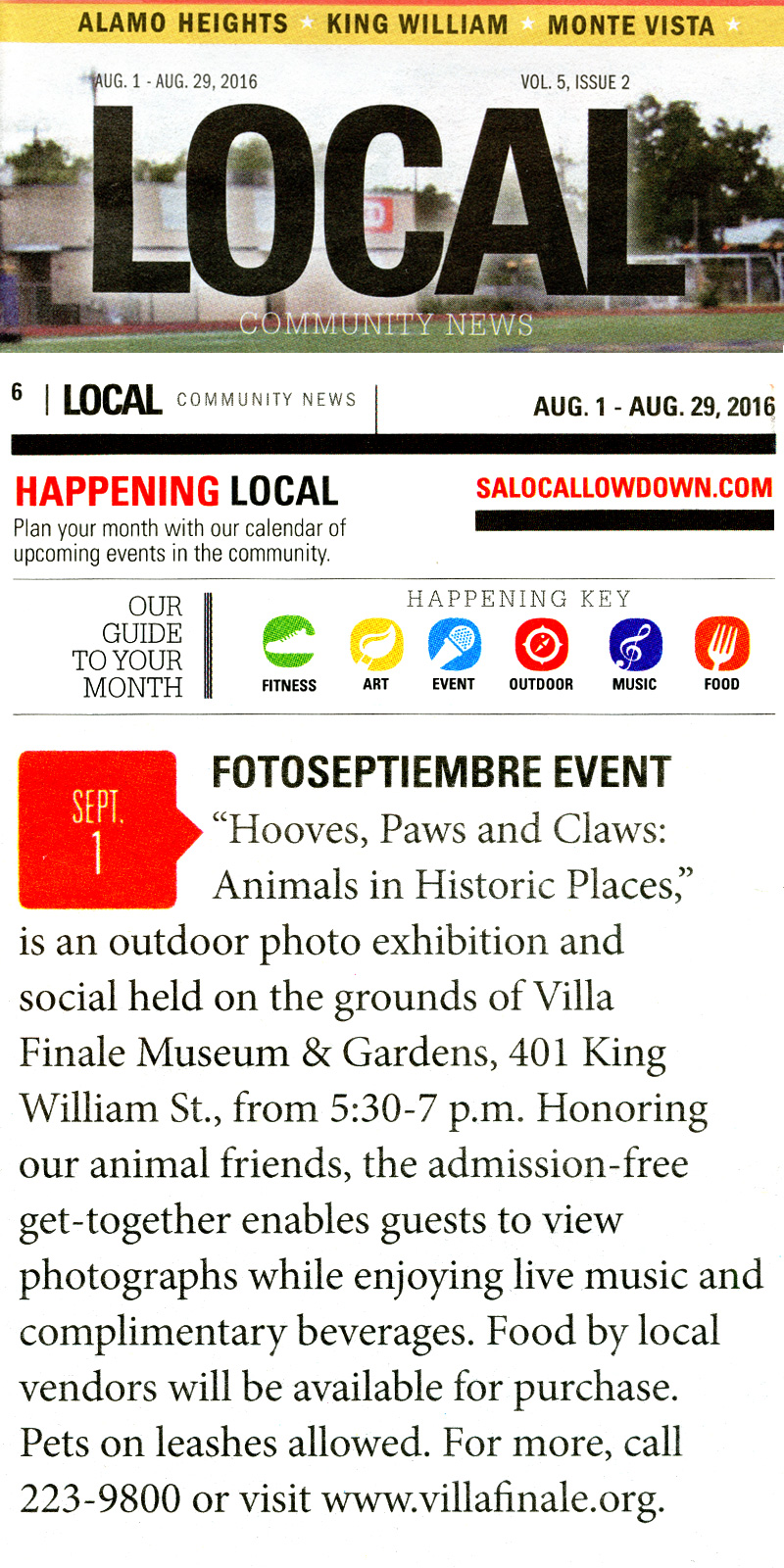 2016-FOTOSEPTIEMBRE-USA-Press-Archives_Hooves-Paws-Claws-Exhibit_Villa-Finale_Local-Community-News