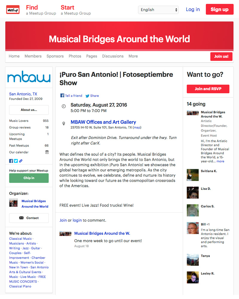 2016-FOTOSEPTIEMBRE-USA_Press-Archives_Puro-San-Antonio-Exhibit_Musical-Bridges-Around-The-World-Gallery_Meetup.com
