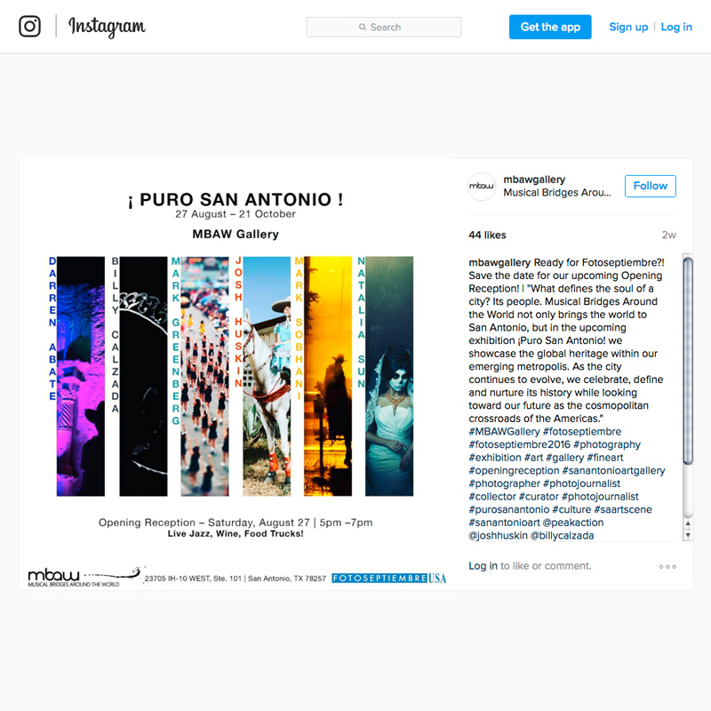 2016-FOTOSEPTIEMBRE-USA_Press-Archives_Puro-San-Antonio-Exhibition_Musical-Bridges-Around-The-World_Instagram