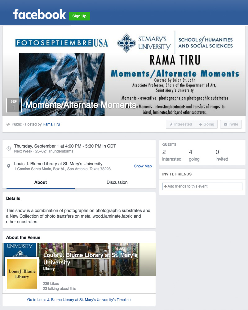 2016-FOTOSEPTIEMBRE-USA_Press-Archives_Rama-Tiru_Moments-Alternate-Moments-Exhibit_Rama-Tiru-Facebook-Event