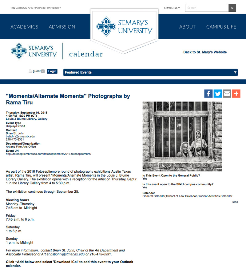 2016-FOTOSEPTIEMBRE-USA_Press-Archives_Rama-Tiru_Moments-Alternate-Moments-Exhibit_St-Mary's-University-Calendar-Website