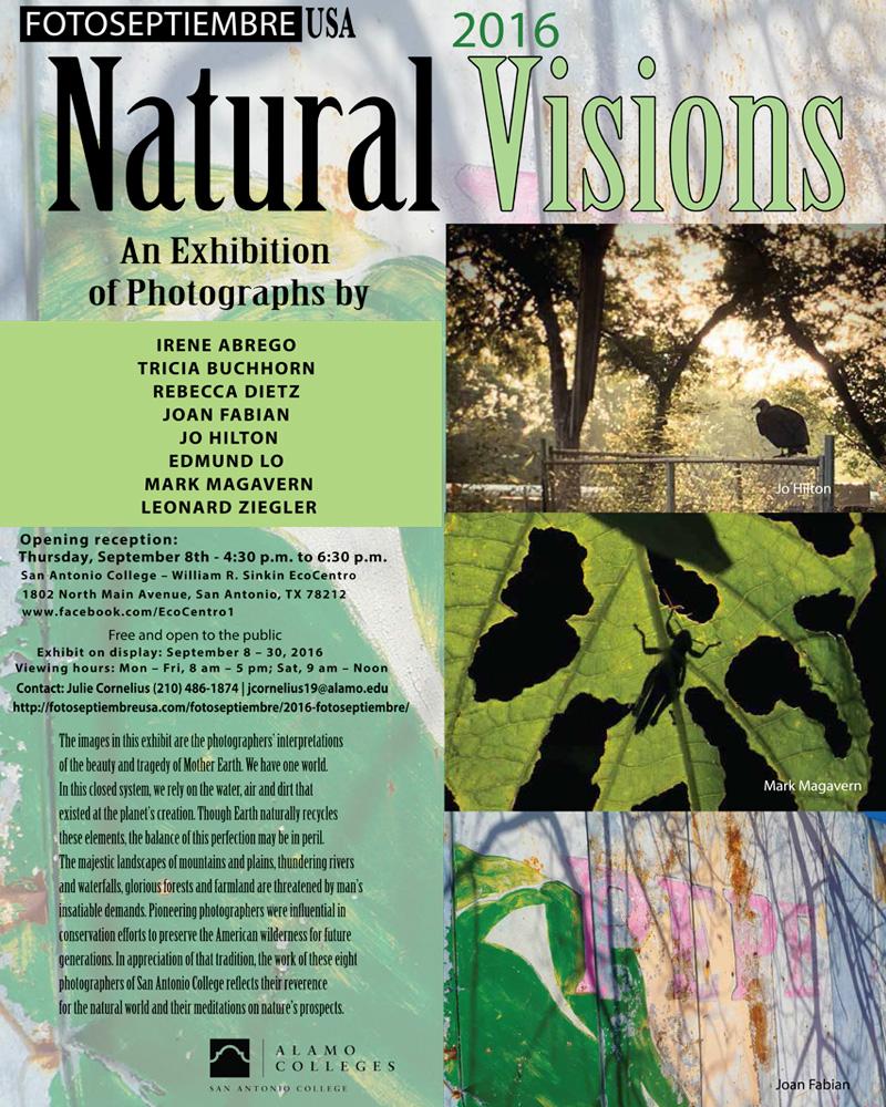 2016-fotoseptiembre-usa_press-archives_natural-visions-exhibition_san-antonio-college_william-r-sinkin-ecocentro-promo-poster