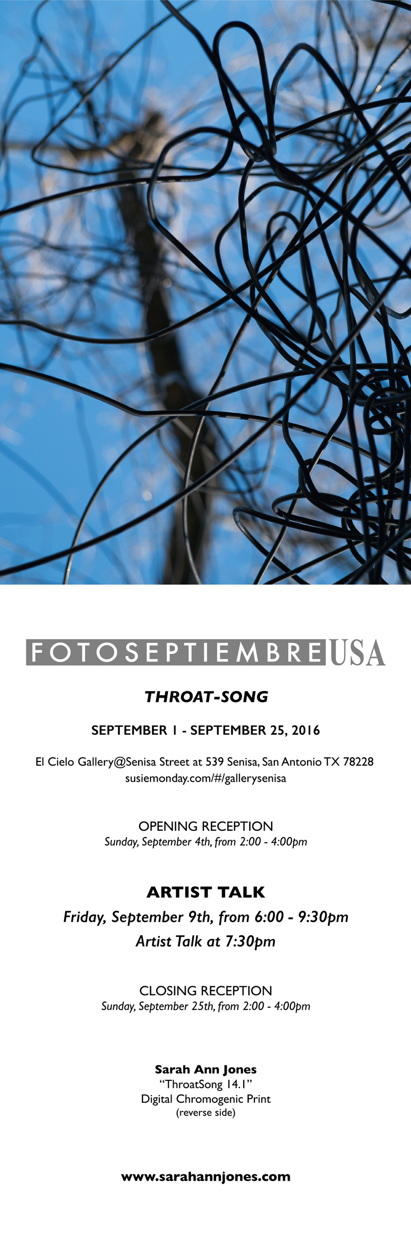 2016-FOTOSEPTIEMBRE-USA_Press-Archives_Sarah-Ann-Jones_Throat-Song-Exhibition_Promo-Card